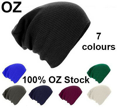 Winter Warm Unisex Women Men Hat Slouch Baggy Hat Beanie Ski Knitted Beret