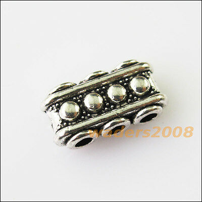 8 New 3-3Holes Bars Connectors Charms Tibetan Silver Tone Spacer Beads 7.5x15mm