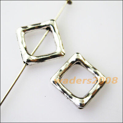 8PCS TIBETAN SILVER Triangle Circle Spacer Frame Beads Charms 15mm ...