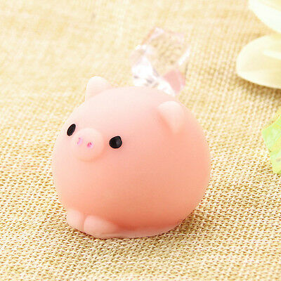 Fun Toy Gift Relieve Anxiety Mochi Cute Pig Ball Squishy Squeeze Healing Decor C