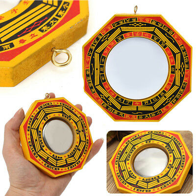 """4""""-6""""Chinese Feng Shui Dent Convex Bagua Mirror Lucky Blessing House Protection"""