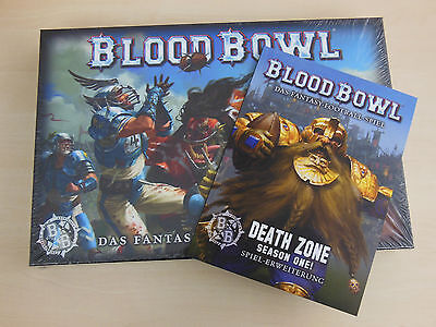 Blood Bowl  + Death Zone, Season One *Neu* Bundle Warhammer + Sonderkarten