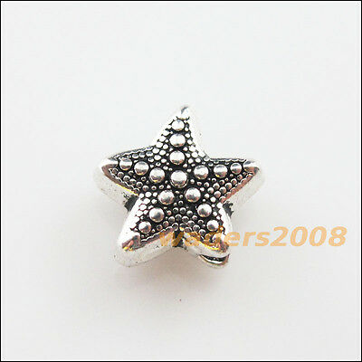 10 New Charms Tibetan Silver Tone Sea Starfish Spacer Beads 10x10.5mm