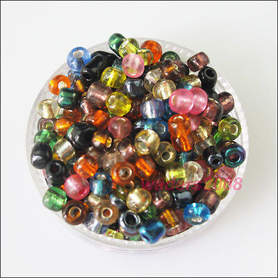 300 New Charms Brilliant Tiny Seed Round Glass Spacer Beads Mixed 4mm