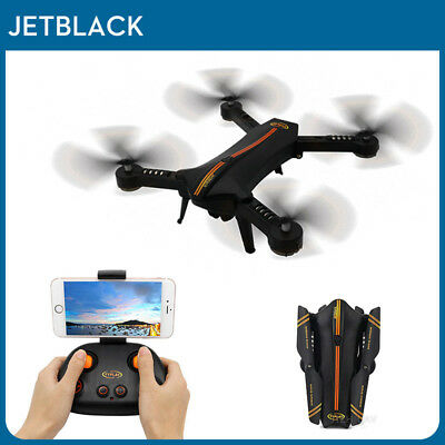 Jetblack Selfie Foldable Drone Quadcopter Helicopter FPV with Camera Photo Video