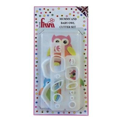 FMM Sugarcraft - Mummy and Baby Owl Cutter Set Cake Decorating Sugarcraft Cutter