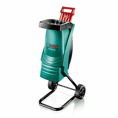 Bosch 2200W Garden Shredder w Wheels 40mm Cutting Capacity Lightweight Powerful