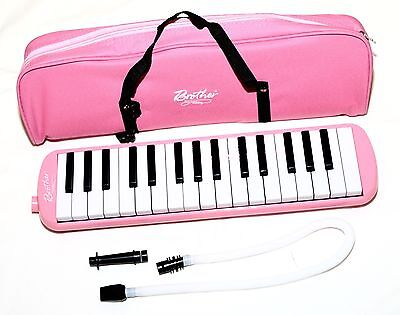 PINK MELODICA | 32 Key Instrument Complete with Pipe Attachment and Carry Bag