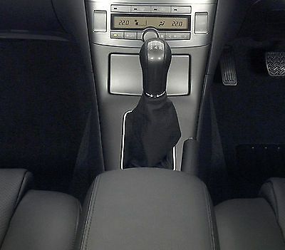 Black Leather Gear Shift Gaiter Cover Sleeve fit Toyota Avensis II 2003-2008