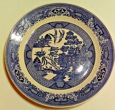 Vintage Blue Willow Ware By Royal Sebring Ohio 10 Dinner Decor Plate