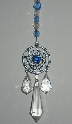 Crystal and Pewter Dreamcatcher Suncatcher made with Swarovski Crystals