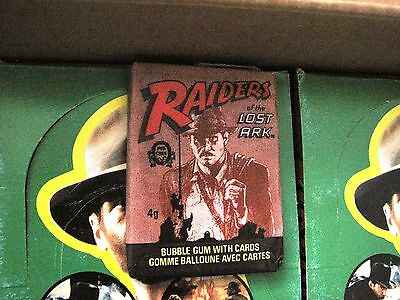Raiders of the Lost Ark Movie Card Packs Indiana Jones Bilingual Eng/Fren MINT!