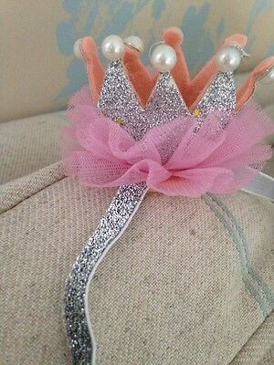 SilverBaby Crown Head Band . Fancy Baby Head Band . Party Head Band. Silver Band