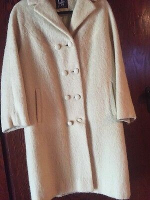 """Vintage Jaffe Of Melbourne """"Mayfair"""" Size 12 approx Mohair & Wool Coat Jacket"""