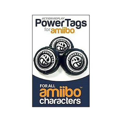 Action Replay Powertags For Amiibo For Nintendo Wiiu 3Ds Switch - 6 Pack