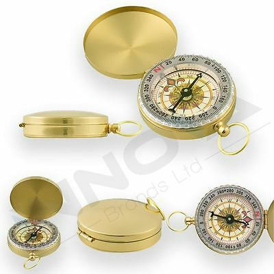 Noctilucent Golden Bronze Clamshell Compass Outdoor Camping Hiking