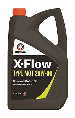 Comma Motor Oil X-Flow Type MOT 20W-50 4.5L XFMOT1G