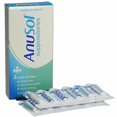 Anusol Suppositories Piles Treatment | 12 Pack | UK PHARMACY STOCK