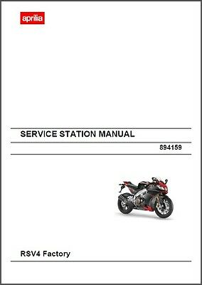 2009-2010-2011-2012-2013-2014 Aprilia RSV4 / RSV 4 Factory Service Manual on CD