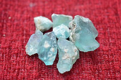 ANCIENT ROMAN GLASS  FRAGMENTS  ! 12.7g 7 PCS  #0195