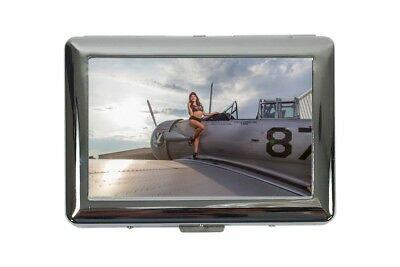 cigarette case tin Travel Airport rative Sexy woman fighter Print