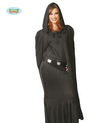 Mantello Nero inTessuto Strega Lusso Donna Halloween Carnevale Harry Potter