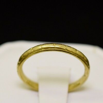 18k Yellow Gold Nugget Style Ring, Band Size 6.5