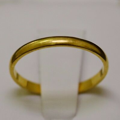 18k Yellow Gold Ring, Band Size 6.5