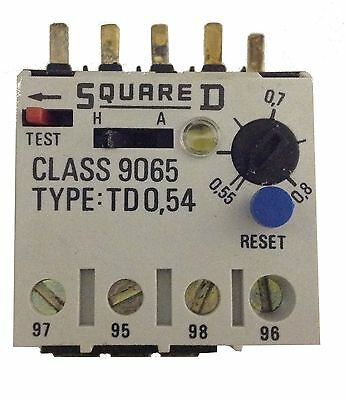 Square D Thermal Overload Relay TD 0,54