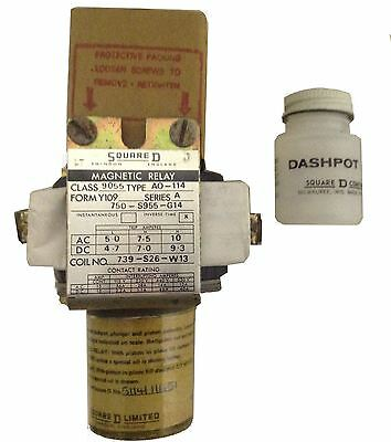 Sqaure D AC Or DC Magnetic Current Relay AO-114 - Time Delay