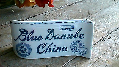 BLUE DANUBE Sign Display for Blue Onion China Pattern SHELF SITTER MARKER nice!