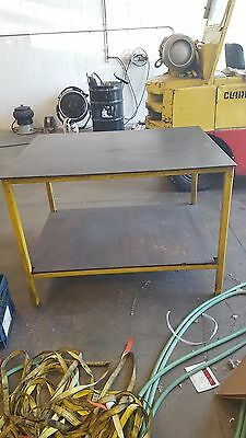Industrial Steel Assembly shipping Welding Packing Table with shelf