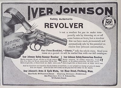 Antique 1909 Ad(F10)~Iver Johnson Arms & Cycle Works, Fitchburg, Mass.