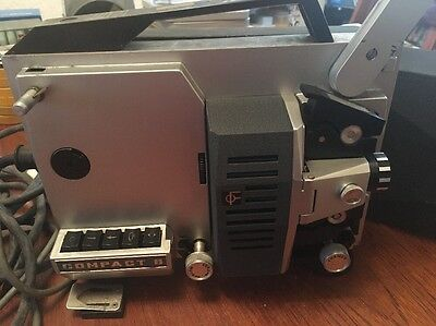 """Very Old Vintage Silwa """"Compact 8"""" 8mm Movie Projector, Untested Spares Repair"""