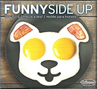 NIB - FRED & FRIENDS Funny Side Up Dog Shaped Egg Mold