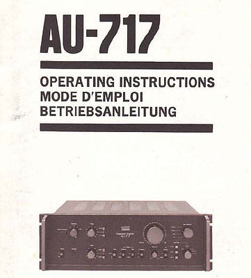 sansui au d11ii integrated stereo amp operating instructions printed rh picclick co uk Example User Guide Clip Art User Guide