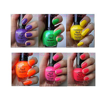 Lot Of 6 Kleancolor Neon Color Bright Collection Memoirs Of The Caribbean -K27