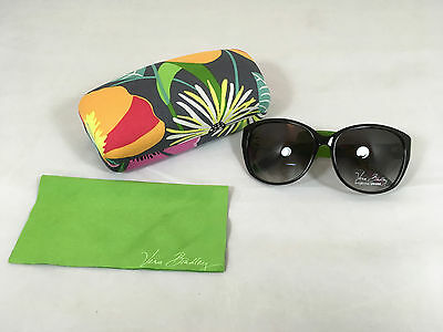 NWT Vera Bradley Layla Sunglasses, Case and Cloth in Jazzy Blooms