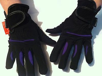 Riders Trend Women's Stretchable Domy Suede Gloves VIOLET AND  BROWN SALE!