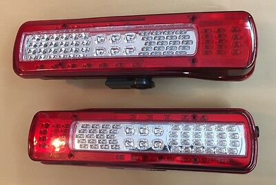 2x LED Rear Tail lights for VOLVO FH FM 2012> EURO 6 Reverse alarm + number plat