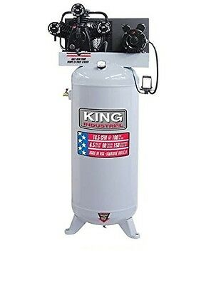 King Canada KC-5160V1 6.5 Peak HP 60 Gallon High Output Air Compressor, 150 Psi