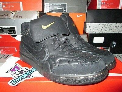 on sale ecb96 4cb10 Sale Nike Tiempo 94 Mid Fc Black Gold Football Soccer 685205 001 Leather New