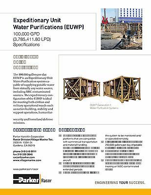 Water desalination and purification system 100,000 GPD/day,filter 250,000/day
