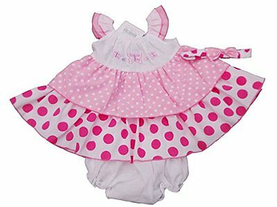 BNWT Baby girls summer spotty butterfly dress set outfit 12- 18 months