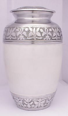 Adult Cremation Urn for Ashes, Ashes Urn Large Funeral Memorial Off White