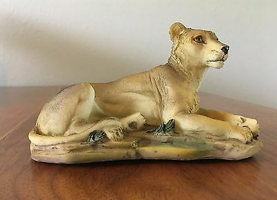 Panther Cougar Mountain Lion Cat Statue Polystone Wild Animal Tiger Figurine
