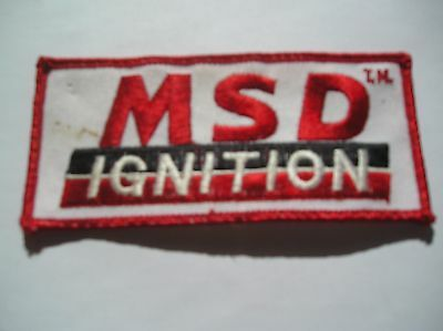 Msd Ignition  Embroidered Sew On Patch  White/black/red Color