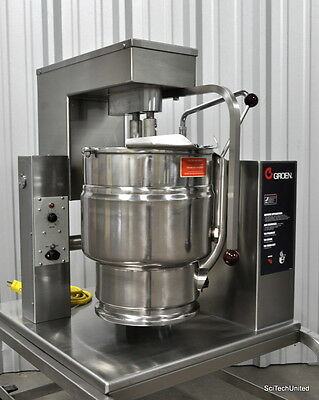 Groen Cooker Mixer Tdb 20, Steam Jacketed Mixing Tilting Kettle With Agitator