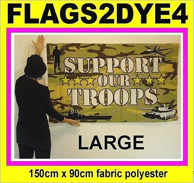 SUPPORT OUR TROOPS flag use for Australian Army Navy Naval ANZAC Air force flag