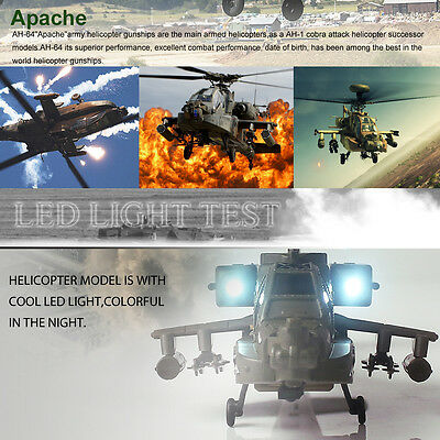 New SYMA S109G 3CH RC Simulation Apache Military Helicopter 6-Axis Gyo US STOCK